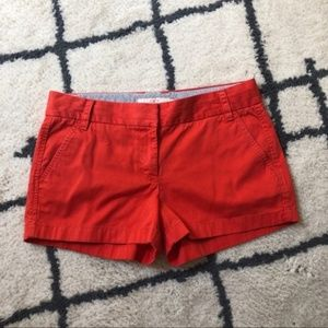 J. Crew orange red chino shorts